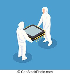 Semiconductor Isometric Design Concept