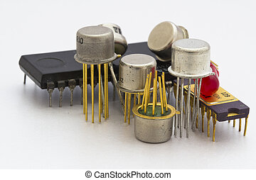 semiconductor components, operational amplifiers, logic circuit, LED, audio amplifier