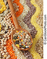 semillas, vario, granos
