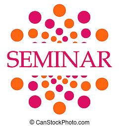 Seminar Pink Orange Dots Square