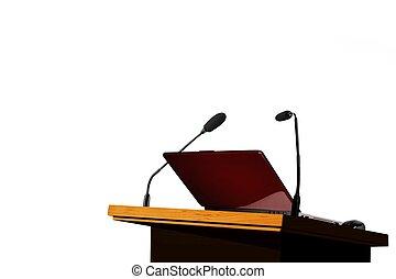 Seminar speech podium