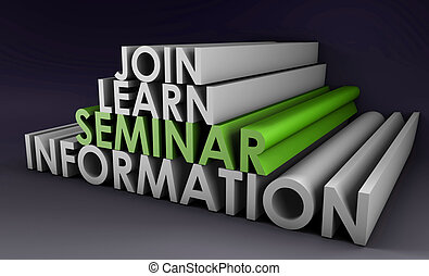 Seminar to Join and Learn Information in 3d