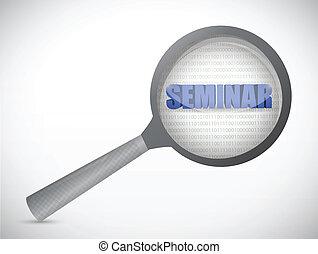 seminar under review illustration design