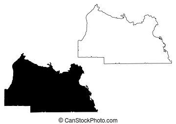 Seminole County, Florida (U.S. county, United States of America, USA, U.S., US) map vector illustration, scribble sketch Seminole map