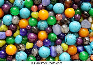 Texture background pattern semiprecious stones jewelry heap