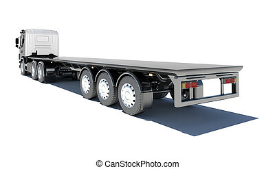 semitrailer , φορτηγό , εξέδρα