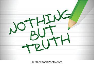 semmi, üzenet, kivéve, igazság, írott