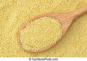 Semolina couscous - Wheat semolina couscous background with...