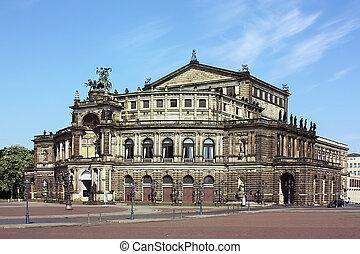 Semperoper in Dresden,Saxony,Germany
