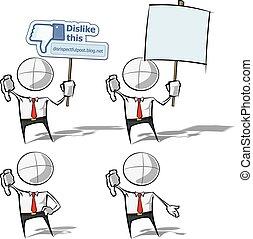 semplice, antipatia, -, persone affari