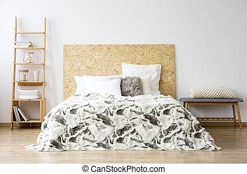 semplice, camera letto, panca