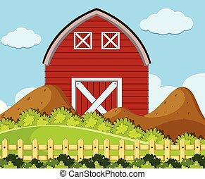 semplice, casa, rurale