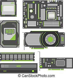 semplice, computer separa, elegante