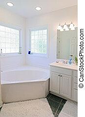 semplice, elegante, bianco, bagno