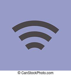 semplice, fili, simbolo, rete
