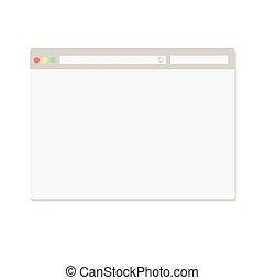 semplice, finestra, bianco, browser