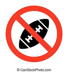 semplice, football americano, ball., no