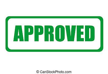 semplice, francobollo, approvato