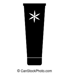 semplice, icona, stile, tubo, crema