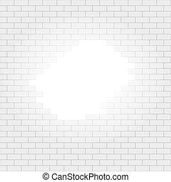 semplice, luce, seamless, parete, modello, buco, mattone, bianco