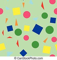 semplice, modello, forme, seamless, colorito