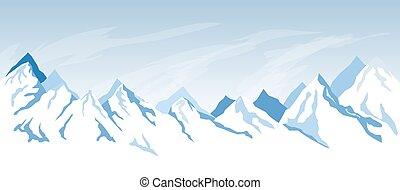 semplice, montagna, fondo