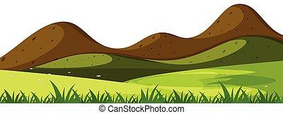 semplice, montagna, scena