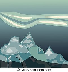semplice, montagne blu