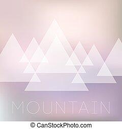 semplice, montagne, geometrico, vettore, illustrazione