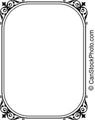 semplice, nero, ornamentale, decorativo, cornice