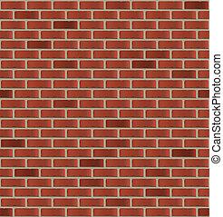 semplice, parete, mattone, seamless