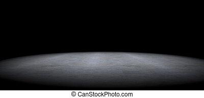 semplice, pavimento cemento, fondo, fra, oscurità