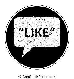 semplice, scarabocchiare, simbolo, come