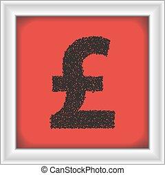 semplice, scarabocchiare, simbolo, soldi
