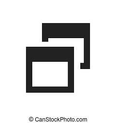 semplice, simbolo, finestra, vettore, browser, icona