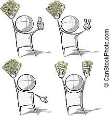 semplice, soldi, -, persone