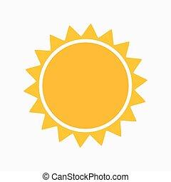 semplice, sole, icona