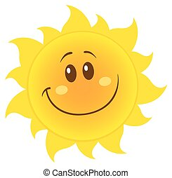 semplice, sole, sorridente, giallo
