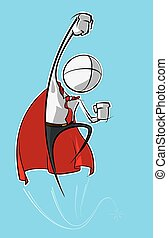 semplice, -, superhero, persone affari