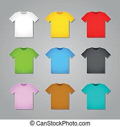 semplice, t-shirt, mascherine