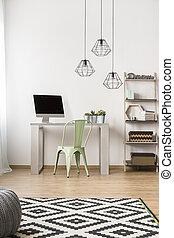 semplice, ufficio casa, idea