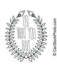semplice, vendemmia, decorativ, citare, inspirational, manifesto, floreale