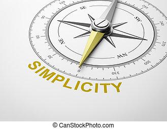 semplicità, bianco, concetto, fondo, bussola