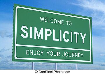 semplicità, concetto, benvenuto