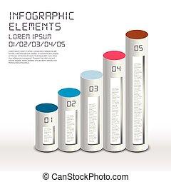 semplicità, infographic, disegno, attraente, elementi
