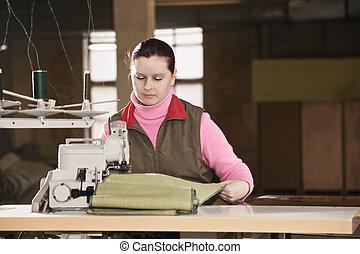 Sempstress at work