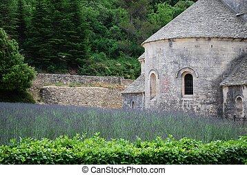 Senanque Abbey, France - Senanque Abbey with lavender field...