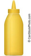 senape, bottiglia