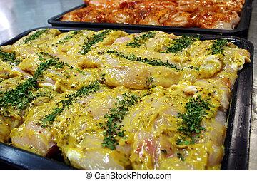 senape, pollo