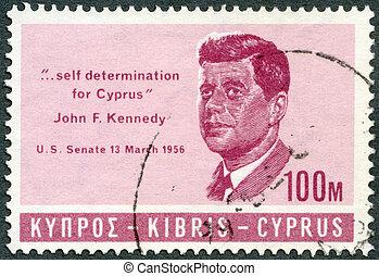 senat, vorladung, zypern, f., briefmarke, 1965, selbst, -,...